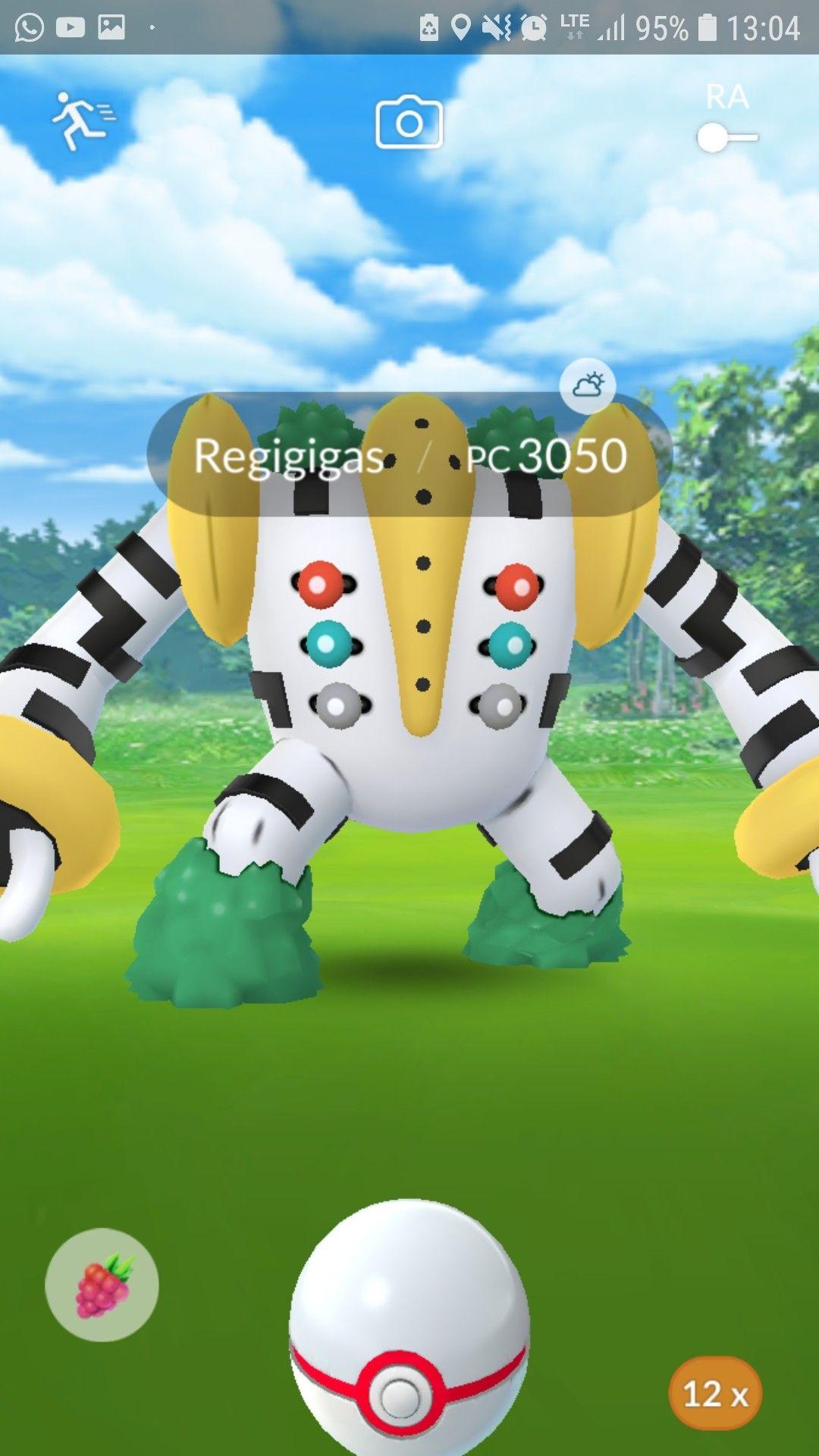 Regigigas Pokemon Go Farglaggningssidor