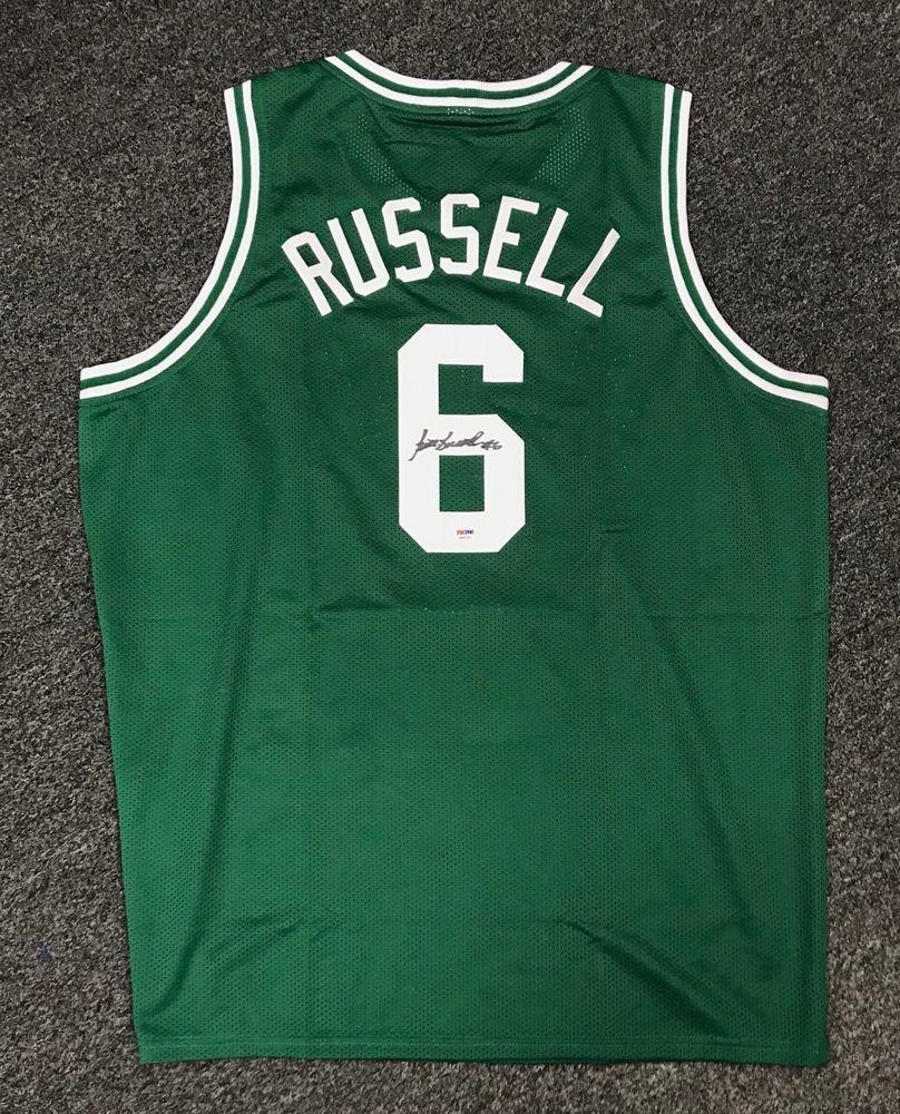 1a822327f Bill Russell  6 Signed Boston Celtics Jersey Autographed Sz XL PSA DNA COA  HOF