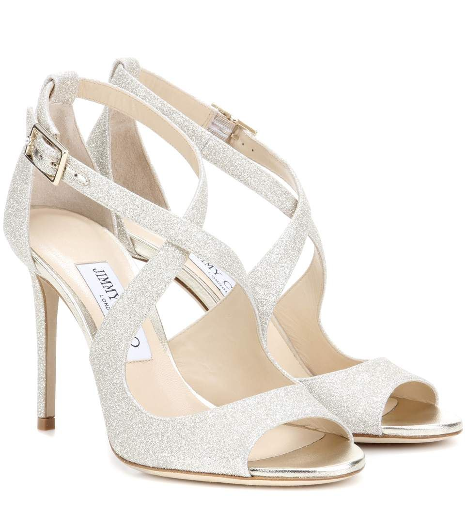 ... emily 100 sandalen aus glitzergewebe in platin. glitter sandalsshoes  sandalswedding shoesjimmy choofather 0afeb 36584 france jimmy choo tesoro  suede ... c99f11aea14