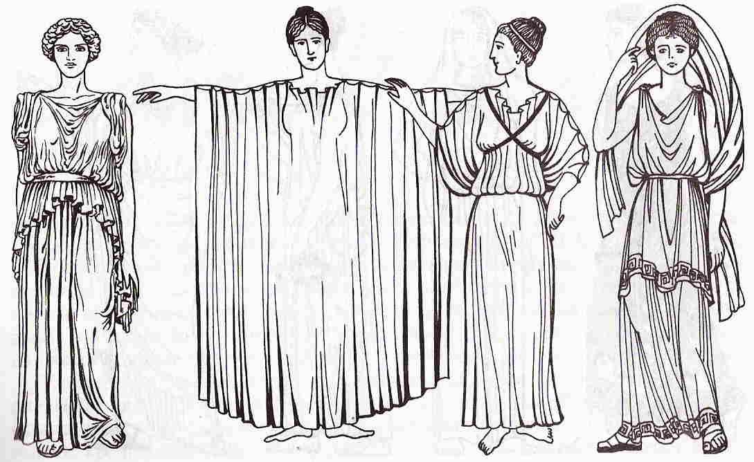 Наряд древнегреческий