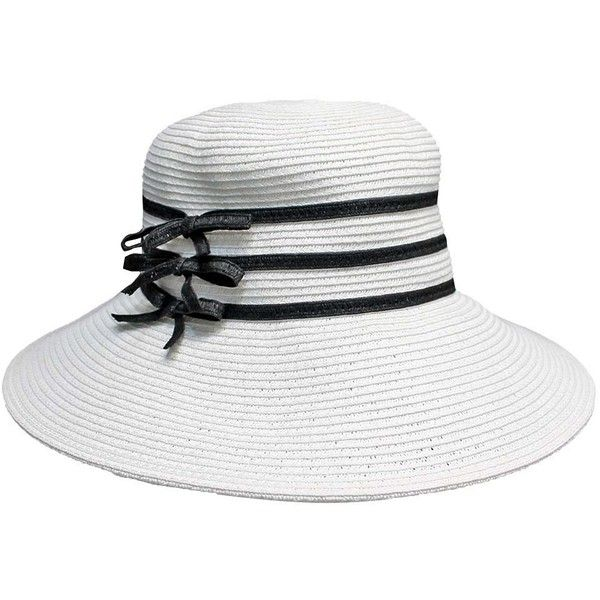 White Paper Braid Beach Sun Hat With Black Ribbon Trim (5.510 HUF ... 02a806acba6