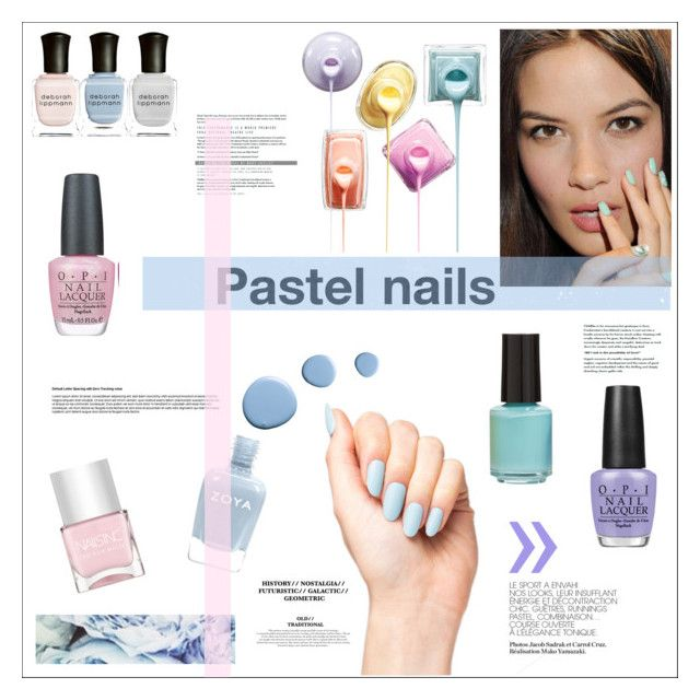 """Fashion Beauty Inc: """"Pastel Nails"""" By Rheeee Liked On Polyvore Featuring"""
