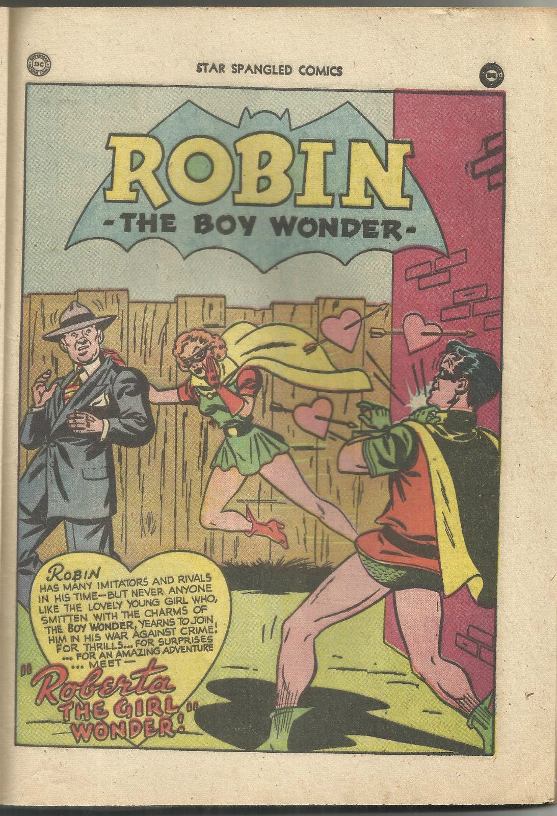 Roberta The Girl Wonder Made Her Debut In Star Spangled Comics