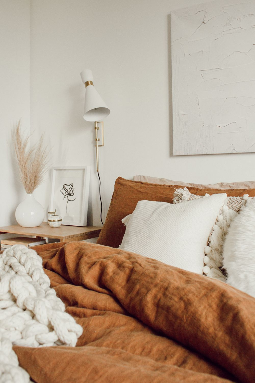 Photo of Cinnamon Linen Sheets