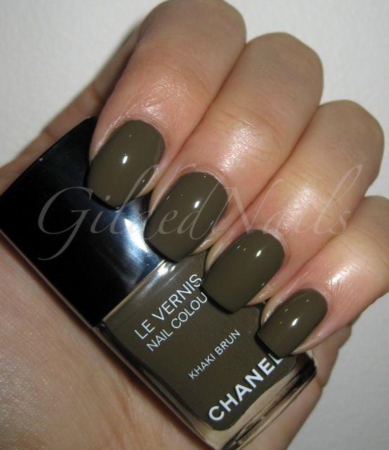 Gildednails Chanel Les Khakis De Chanel Nail Collection Chanel Nails Chanel Nail Polish Nail Polish