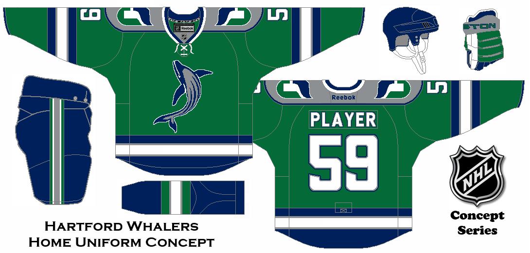 NHL Concept Series. Hartford Whalers Home Uniform.  60b1c4460e8