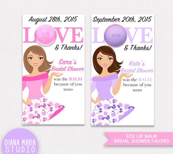 bridal shower favors eos lip balm printable favor tags personalized thank you favors digital