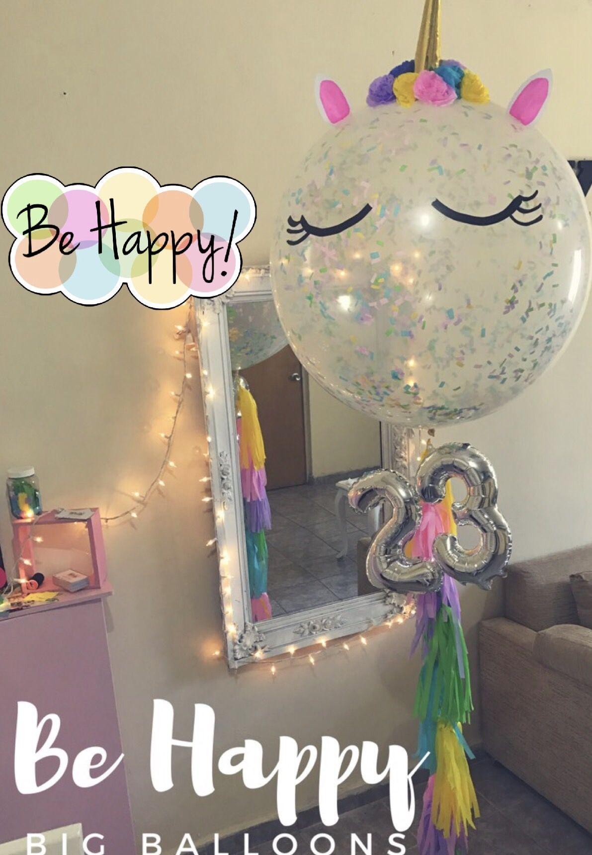 Globo gigante unicornio big balloons pinterest - Bombas de cumpleanos ...