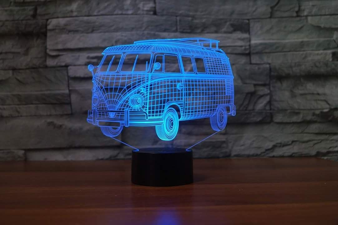 3d Lamp Campervan Night Light Vw Van