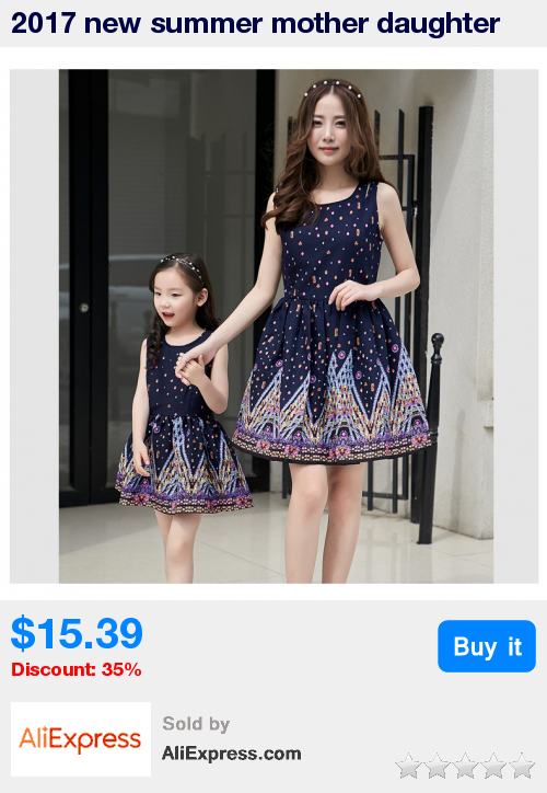 690c414f998da 2017 new summer mother daughter dresses Family Matching Clothes ...