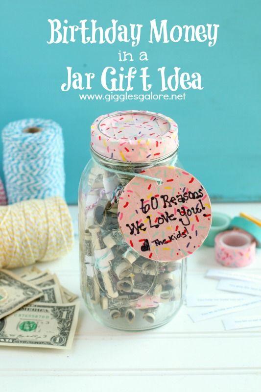 Birthday Money In A Jar Gift Idea Giftidea Birthdaygift Birthday Money Jar Gifts Money Jars