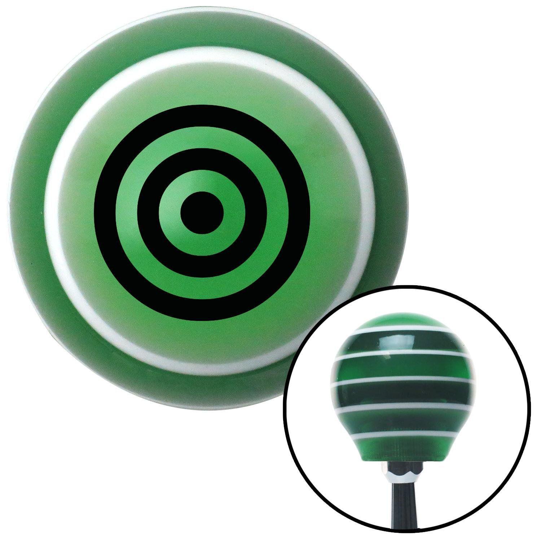 Black Target Green Stripe Shift Knob with M16 x 15 Insert