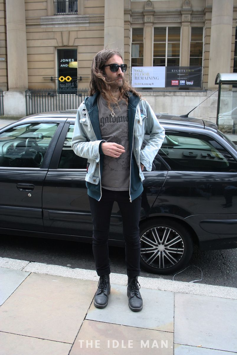 Men S Street Style Layering Layering Is A Good Way To Make Your Outfit More Interesting Jeans And A Logo T Sh With Images Mens Street Style Mens Outfits Bomber Jacket [ 1204 x 803 Pixel ]