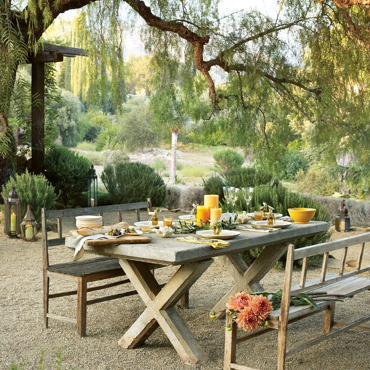 tuscan dining in the courtyard ideas for outdoor dining rooms from sunset magazine