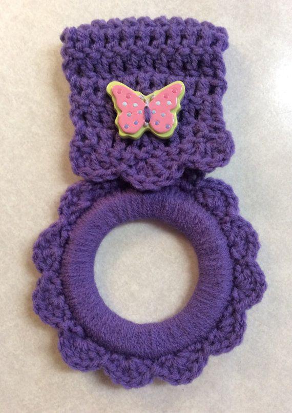 Butterfly Kitchen Towel Hanger Button Towel By Yarnhotoffthehook