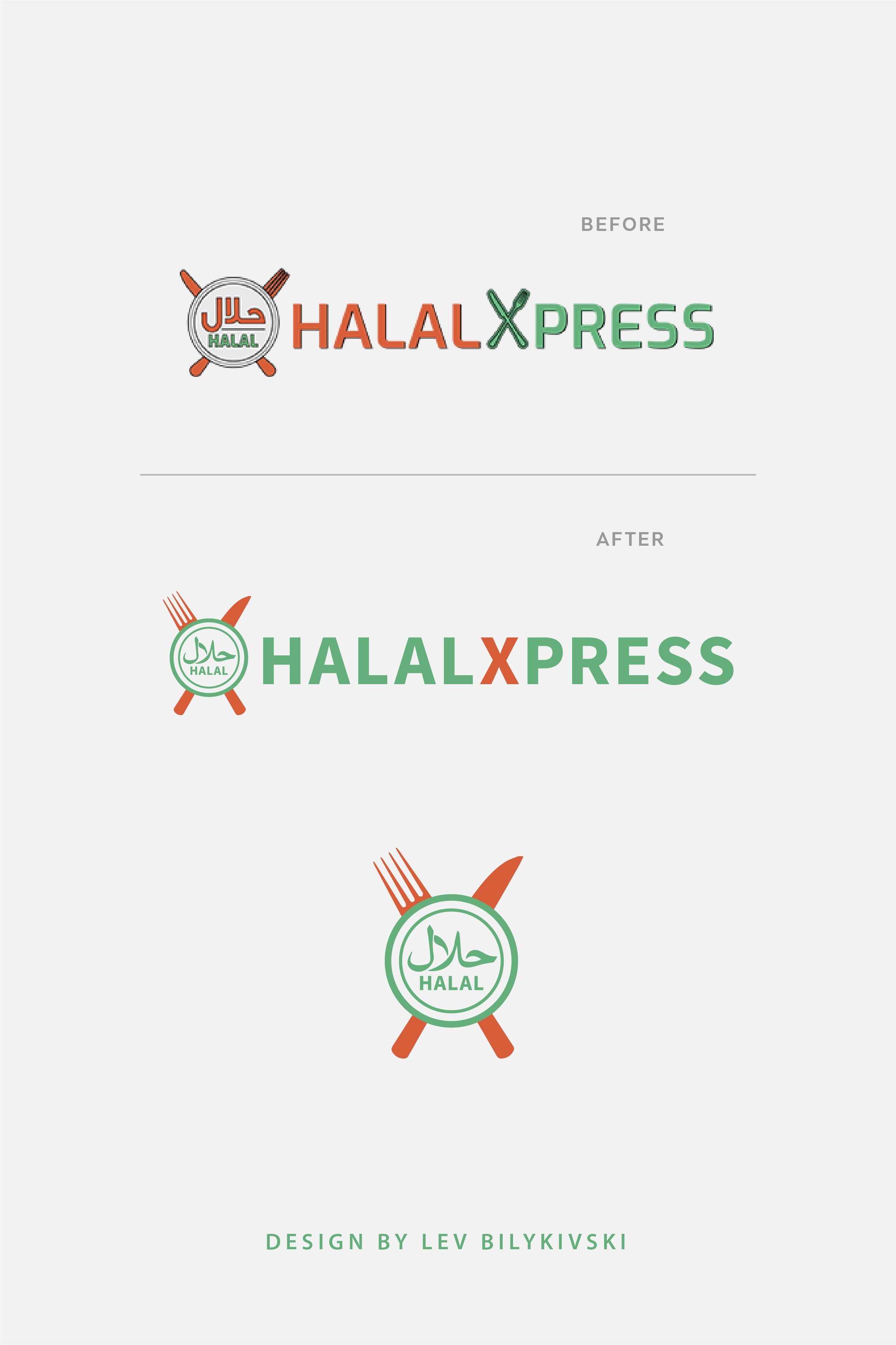 Halal restaurant logo redesign halalXpress1. Changed the