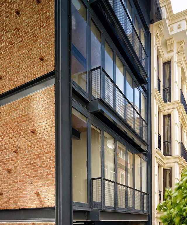 Metal Work Photos Industrial Architectural Residential: Exposed Steel With Brick