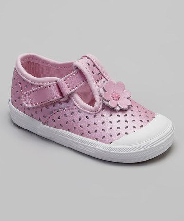 98736e91979 Take a look at this Pink Eyelet Champion Toe Cap T-Strap Shoe by Keds on  zulily  today!