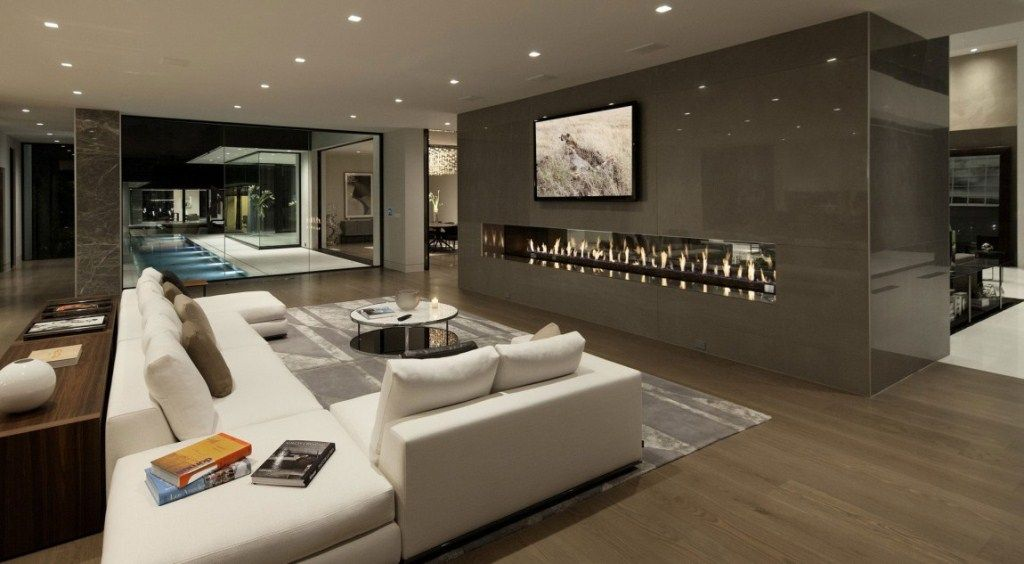 Sunset Strip Residence by McClean Design Fireplace
