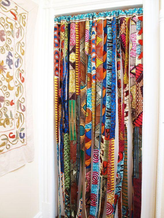 Batik Baifall Wax Print Panel Or Room Divider Africa Home Decor