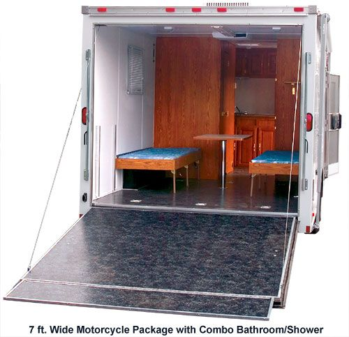 Cargo Trailers As Living Quarters Images Google Search Cargo Trailer Conversion Cargo Trailer Camper Conversion Enclosed Trailer Camper