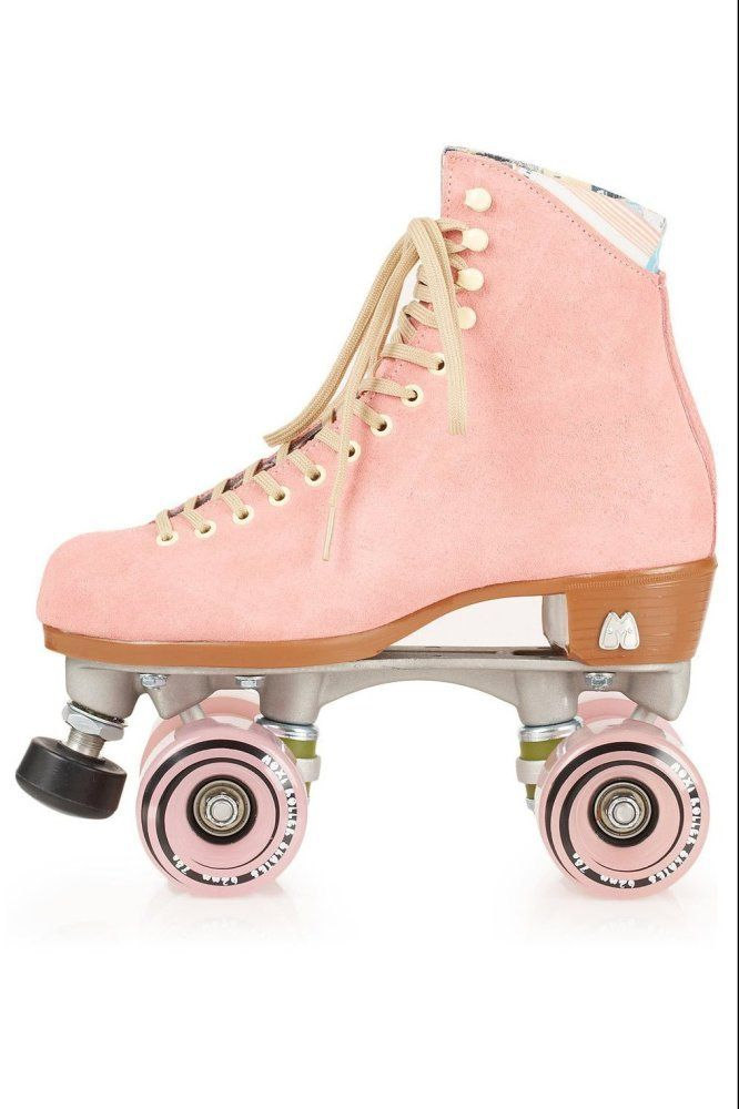 Moxi pink suede roller skates cute and my favorite