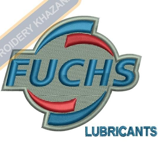 Fuchs Lubricants Logo Embroidery Design Car Auto Logos Embroidery