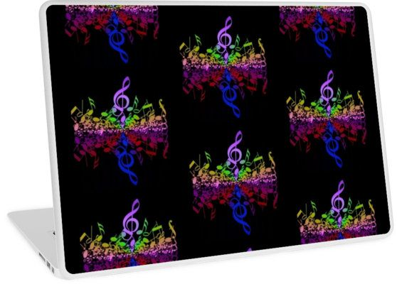 Nothin' But Treble Rainbow Music Notes | Design available for PC Laptop, MacBook Air, MacBook Pro, & MacBook Retina