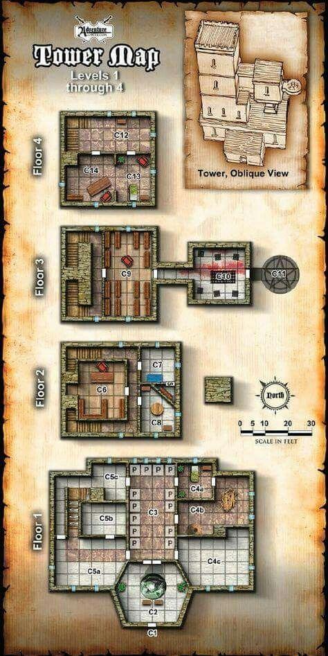 Random Tower Map ... - #map #Random #tower