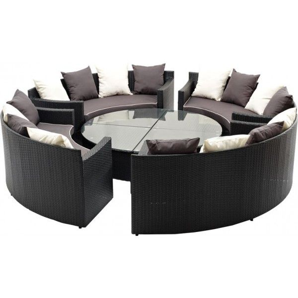 luksus lounge sofa s t polyrattan havem bler i 8 dele 4 stk sofa 4 glasborde set p www. Black Bedroom Furniture Sets. Home Design Ideas