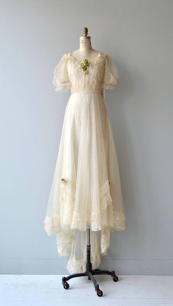 Cantabile wedding gown | vintage 1930s wedding dress | 30s wedding ...