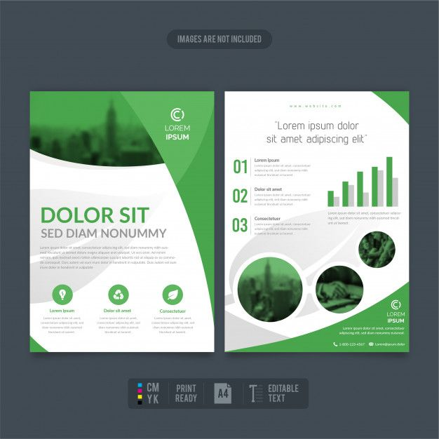 Clean And Modern Eco-friendly Business Flyer Reports (มีรูปภาพ)