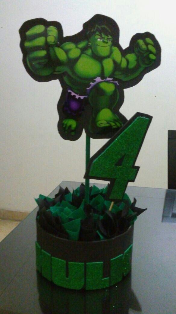Centro De Mesa Hulk Festa Tema Hulk Festas De Aniversario Do Hulk Aniversario Do Hulk