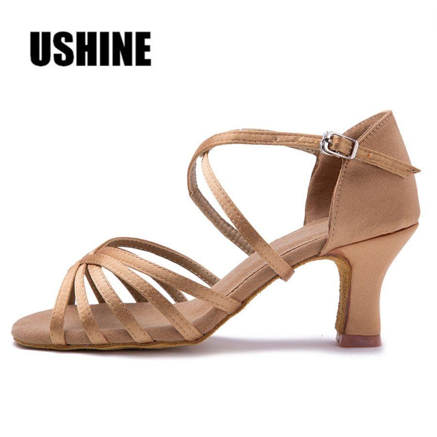 Heel 7cm 5cm Without Knot Latin Dance Shoes Woman Scarpe Da Ballo Latino  Donna Chaussure 310f6bd08a67