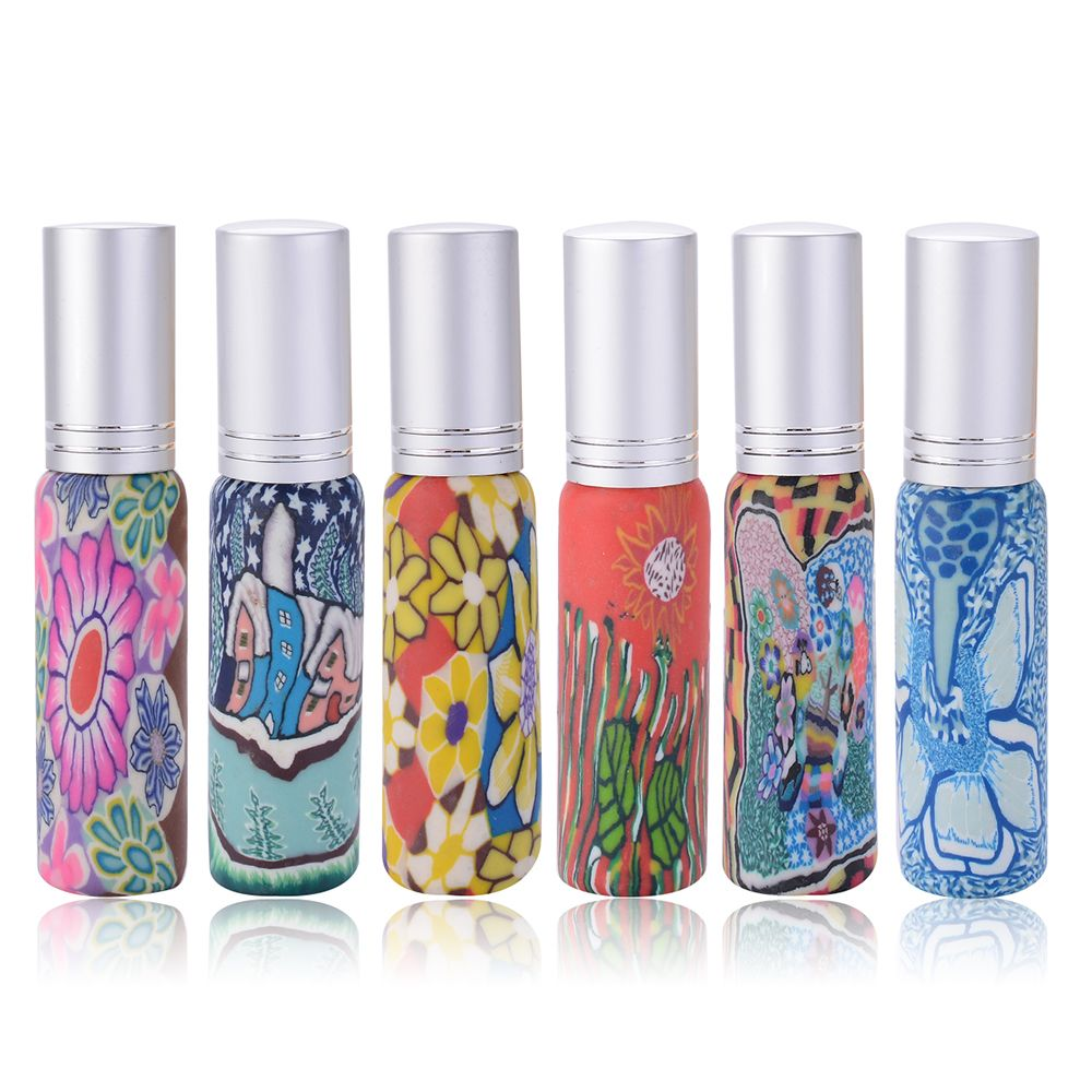 10ml Empty Colorful Refillable Perfume Mini Atomizer Printed Glass Bottle Makeup Container Cosme Refillable Perfume Bottle Makeup Containers Refillable Perfume
