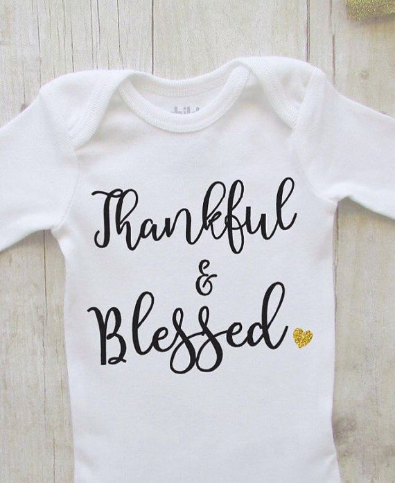 f93e5ff39 Thankful and blessed - fall baby bodysuit - thanksgiving shirt - fall shirt  - autumn baby girl shirt