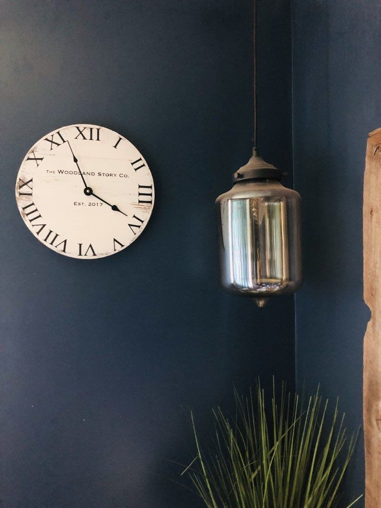 Ready To Ship 12 Farmhouse Clock Small Rustic Clock Distressed Clock Wood Clock Modern Farmhouse Distressed Ru Wood Clocks Farmhouse Clocks Rustic Clock