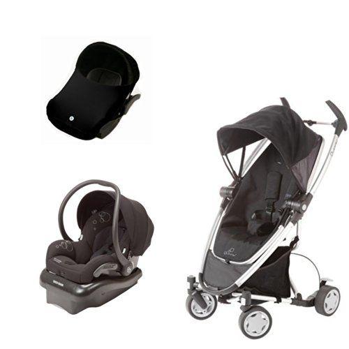 Quinny Travel System Zapp Xtra MaxiCosi Mico AP Car Seat Black With ImagineBaby Canopy