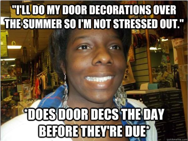 Awkward Ra Meme Speaks The Truth Procrastination Ratraining Socially Awkward Resident Assistant Nurse Inspiration