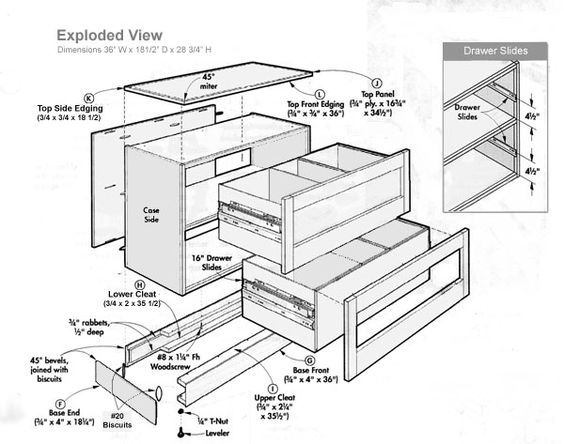 Exploded View Of Lateral Filing Cabinet Tools And Tips