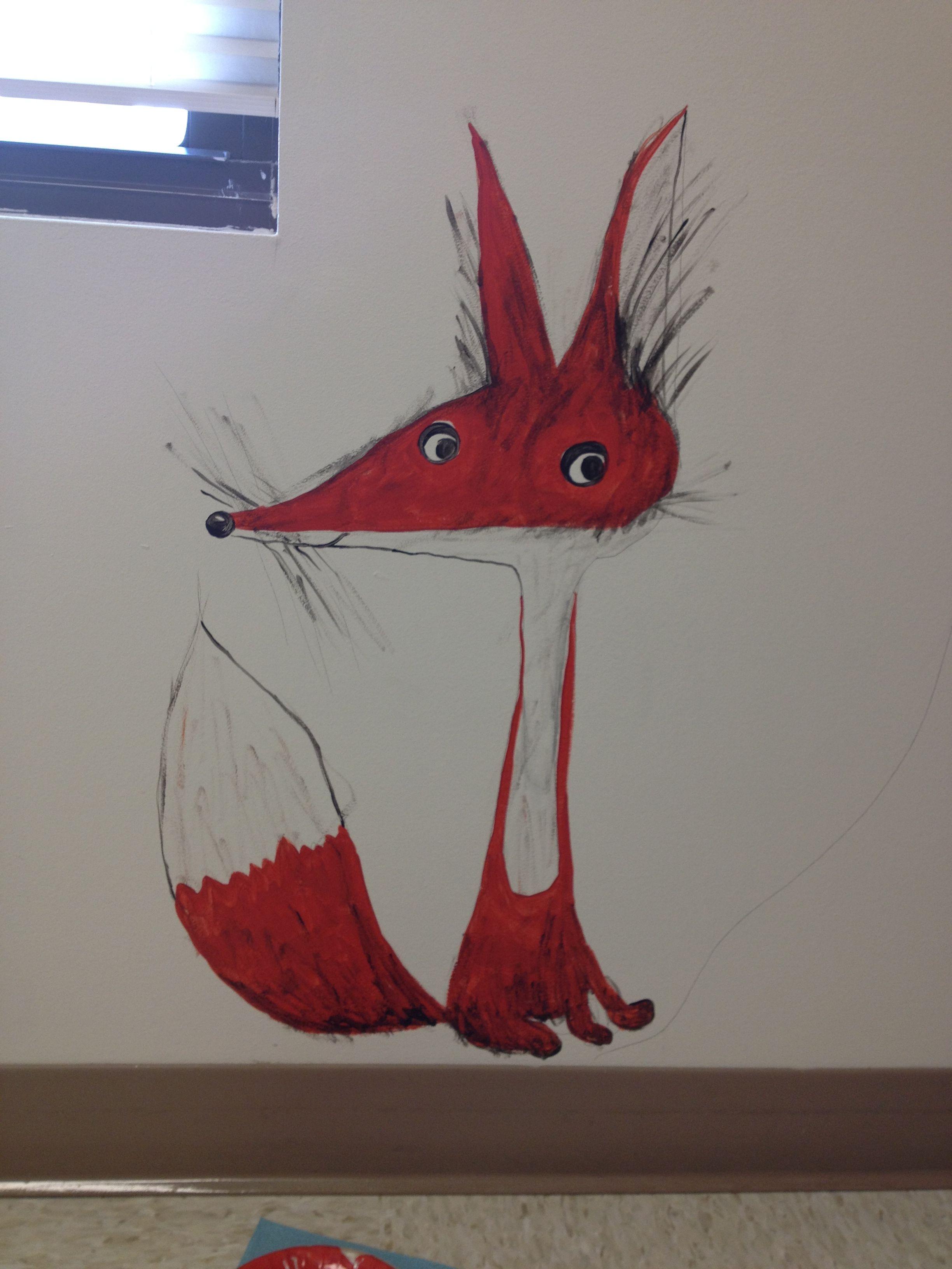 Fox Painting Kids Room