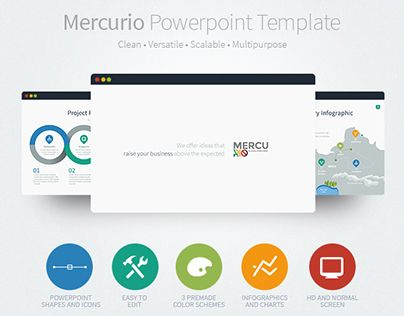 "check out this @behance project: ""mercurio powerpoint presentation, Presentation templates"
