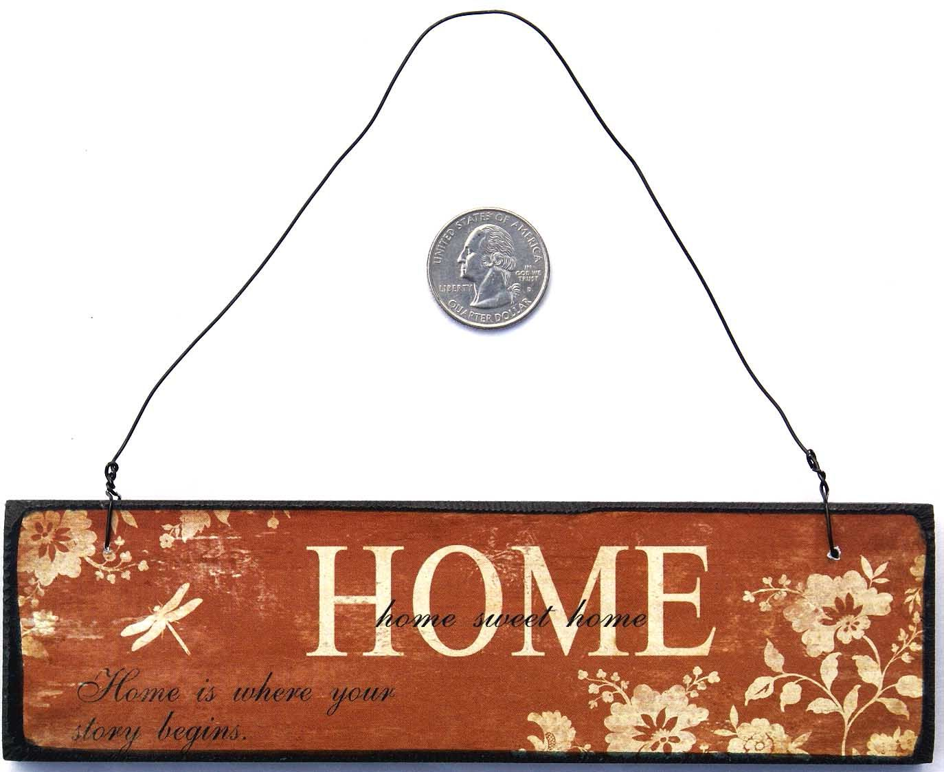 Home Sweet Home Wooden Plaque Sign Ornament Wall Decor Wooden