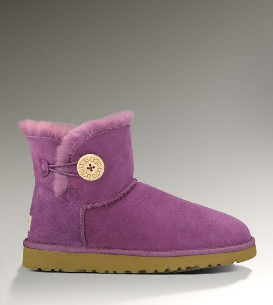 Ugg Boots WOMENS MINI BAILEY BUTTON SUGAR PLUM