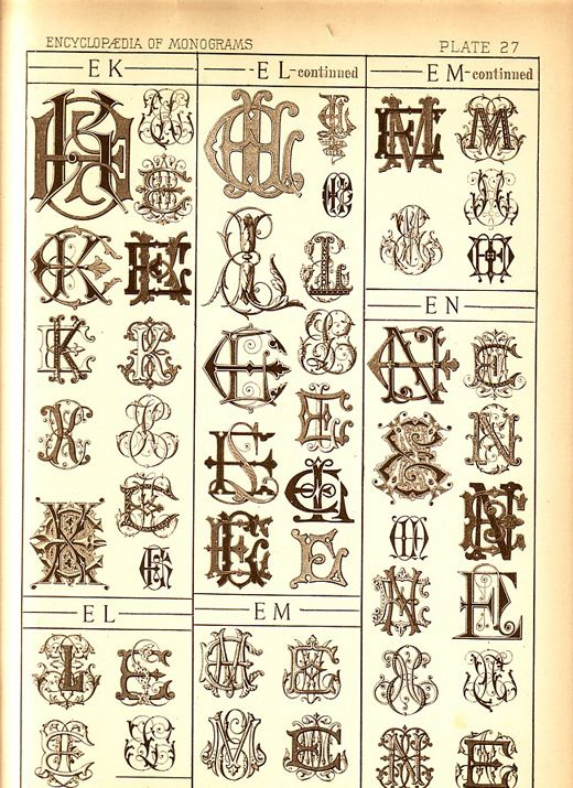 If I were down with monograms, they would look like this. Linens for the king were monogrammed in these styles.