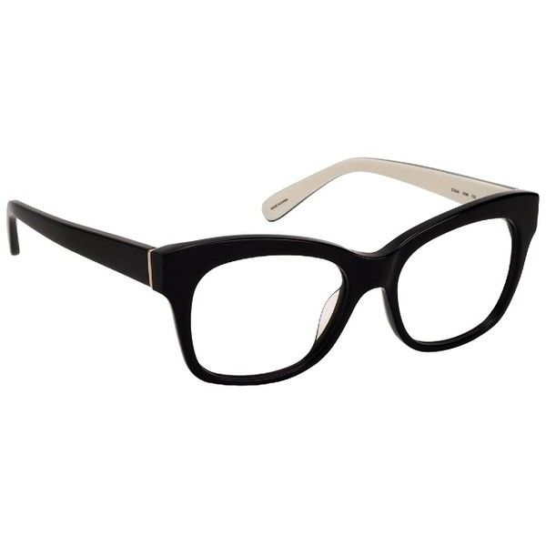 9f9a84ba95d9 Kate Spade Stana Black Ivory Frame Eyeglasses ($96) ❤ liked on Polyvore  featuring accessories, eyewear, eyeglasses, kate spade eyeglasses, lens  glasses, ...