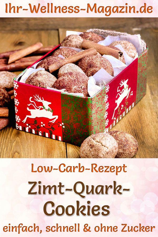 Low Carb Zimt-Quark-Cookies - Rezept für Weihnachtsgebäck ohne Zucker #cinnamonsugarcookies