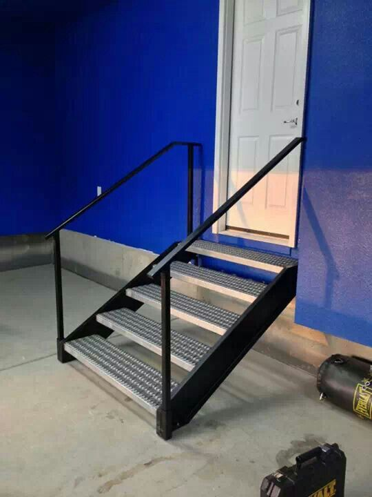 Stair Treads With Removable Railings By Fab Industries Denver