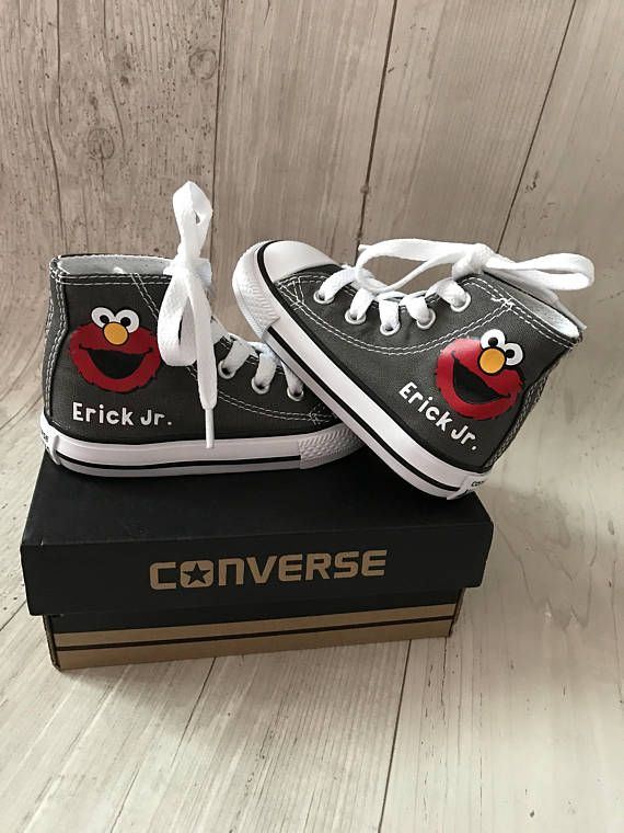 8d1e37136a22 Adorable Red monster Customized converse. Please specify the name in the  notes section. Please