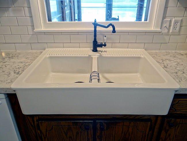 Super nice tutorial to install Domsjo double snk from Ikea http://oneprojectatatime.blogspot.com/2014/08/installing-ikea-domsjo-sink-in-36-sink.html